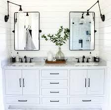 modern farmhouse bathrooms with shiplap