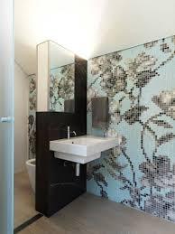 Wandfliesen Bad Modern Mosaik Florale Motive Bathroom Badezimmer