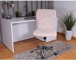 chrome office desk. Image Is Loading Faux-Fur-Swivel-Chair-Office-Desk-Plush-Retro- Chrome Office Desk