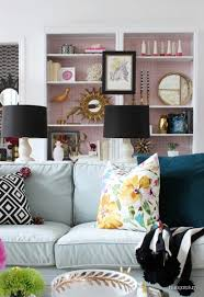 family room decorating ideas. Are You Looking For A Family Room Idea To Bring Some Color Your Neutral Walls? Bright Wallpaper Will Make The Perfect Backdrop Built-in Decorating Ideas E