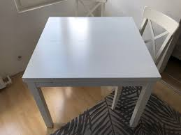 Ikea Esstisch Bjursta Weiß Ausziehbar