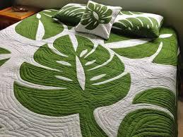 618 best Hawaiian Quilts images on Pinterest | Hawaiian quilts ... & monstera hawaiian quilt bedspread Adamdwight.com