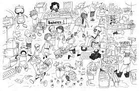 Animato Disegno Pianoforte Bianco E Nero Disegno Di Cartone