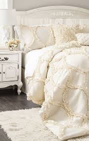 white and cream bedding.  And Best 25 Cream Bedding Ideas On Pinterest Farmhouse Bedrooms White And  Inside B