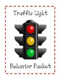 Stoplight Behavior Chart Templates Traffic Light Behavior Management Packet Classroom