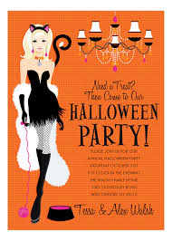 costume party invites blonde here kitty halloween invitation