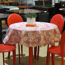 printing round rural thickening waterproof oil table cloth