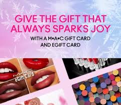 mac cosmetics gift cards e gift cards