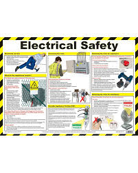 Electrical Chart Electrical Safety First Aid Chart Wallchart