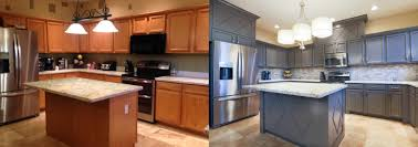 Refacing Oak Kitchen Cabinets Painting Kitchen Cabinets Pictures Before After Painting Wood