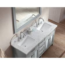 gray double sink vanity. ariel bath d061d-gry kensington 61\ gray double sink vanity