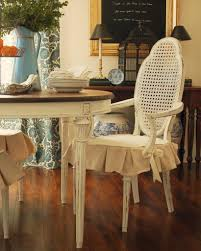 chair seat covers. Distressed White Dining Room Chair With Skirted Seat Cover Covers