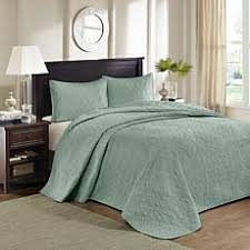 Best Selling Quilts & Coverlets   HSN & Madison Park Quebec King Quilted Bedspread Set - Seafoam Adamdwight.com