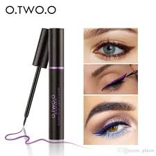 o liquid eyeliner easy to wear ultimate waterproof long lasting eye liner party eyes makeup blue purple brown color concealer makeup tips from player
