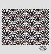 Art Deco Cross Stitch Charts Art Deco Repeat Pattern Art Deco Pillow Cross Stitch