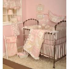 heaven sent girl pink 4 piece crib bedding set