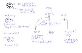 b>how to build a condensor microphone a do it yourself project < b> schematic