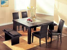 wenge modern square dining table with chairs and bench home inside ideas 7