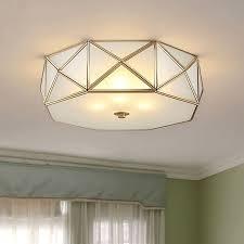 Mushroom Solar Light Menards Full Copper Led Ceiling Lamp Bedroom Dining Room Study Room