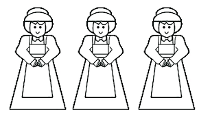 Pilgrim Girl Coloring Page Thanksgiving Pilgrim Coloring Pages