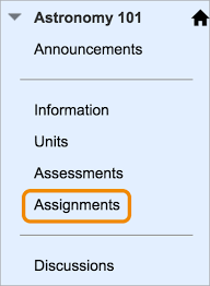 submit assignments blackboard help your instructor can add assignments to different areas of your course you might access assignments from a link on the course menu called assignments