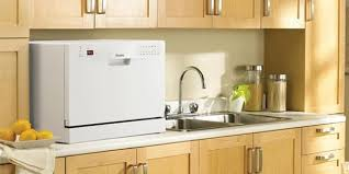 countertop dishwasher in kitchen