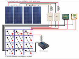 wiring 2 12 volt batteries in parallel solar panel charge diy solar panel system battery bank wiring
