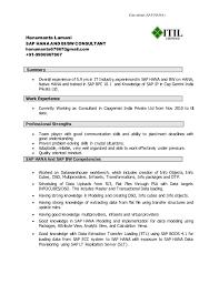 Sap Hana Resume 3 638 Jpg Cb 1469344318 Latest Format For Freshers