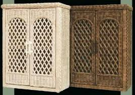 wicker wall shelf wall mounted bath wall cabinets with lattice doors pictured in whitewash brown wicker