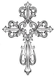 Cross Art Design Ornate Cross Clipart 1 Cross Drawing Cross Coloring Page