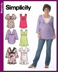 Maternity Patterns Impressive Simplicity 48 Maternity Woven Top