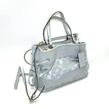 Home · Coach · Signature Nylon Mini Drawstring Handbag  Crossbody Bag Light  Grey. CLICK THUMBNAIL TO ZOOM. Found ...