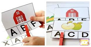 alphabet picture cards printable farm alphabet card matching game
