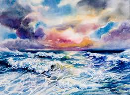 seascape painting angry sea by jack tzekov