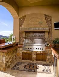 italian outdoor kitchen mediterranean patio