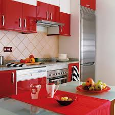 contemporary kitchen design for small spaces.  Design Red Kitchen Cabinets For Contemporary Small Spaces For Contemporary Kitchen Design Small Spaces
