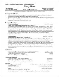Sample Of Professional Resume With Experience Resume Resume