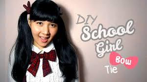 Anime Bow Tie DIY School Girl Uniform I Wear A Bow YouTube