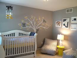 Cute Baby Boy Wall Decals for Nursery : Modern Baby Room Decoration Using  White Crib And