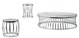 stainless steel round coffee table picture of glass top
