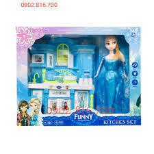Hộp đồ chơi nhà bếp mini có nhạc và đèn hình công chúa Elsa - nữ hoàng băng  giá Frozen 8804 | Búp bê