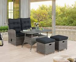 monaco all weather reclining bench set