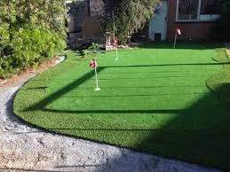 a very nice backyard putting green