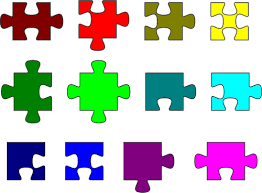 If you like this file, please leave some feedback below! Colorful Puzzle Pieces Free Svg