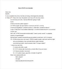 Soap Note Format Soap Notes Format Ohye Mcpgroup Co