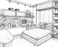 simple bedroom drawing. Download Image. Interior Wood Frame Room Architecture Simple Bedroom Drawing M