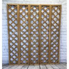 Custom wooden lattice grille mission trellis wooden trellis wood grid panel from hardwood wooden lattice panels, lattice door inserts in custom dimensions. Set Of 5 Wooden Framed Square Trellis Toppers 180cm X 30cm