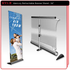 Retractable Display Stands Mercury Retractable Banner Stand 100 15