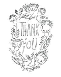 Thank You Coloring Pages To Download Thank You