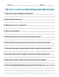 10 Most Common Job Interview Questions By Ceegee S Tpt